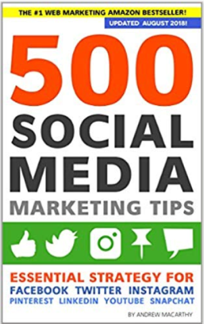 Social Media Books 500 Social Media Marketing Tips Andrew Macarthy