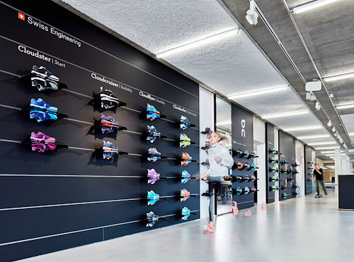 brand storytelling on running store product display