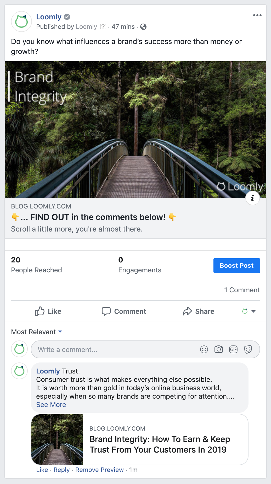 Growth Hacking Trickle Down Facebook Ad Split Copy Example