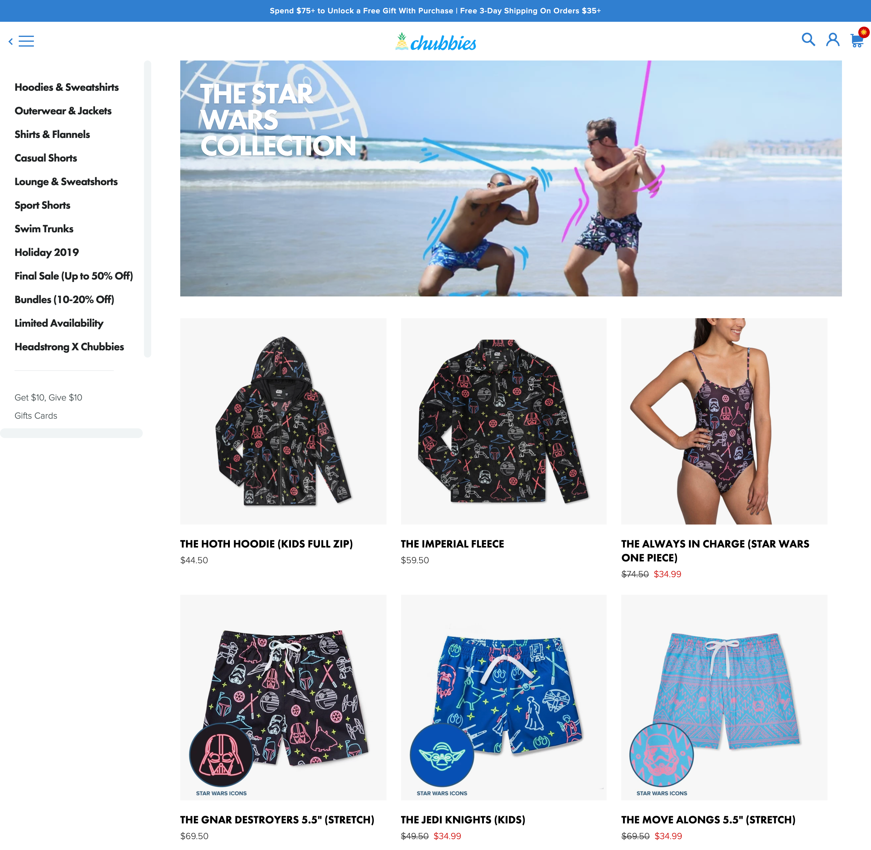Collaborative Marketing Chubbies Star Wars Collection