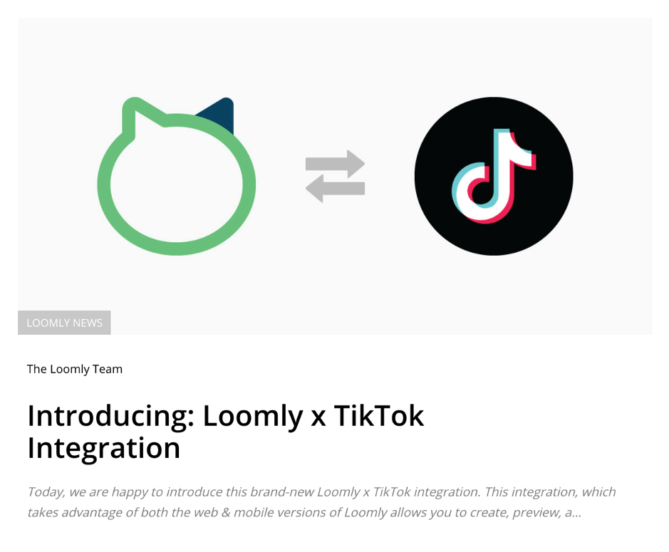 customer retention strategies customer education Loomly introduction of TikTok integration